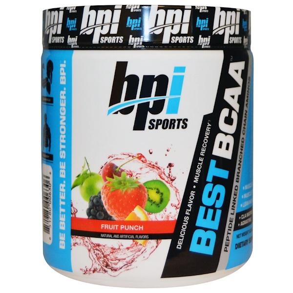 BPI Sports, Best BCAA, Fruit Punch, 10.58 oz (300 g)