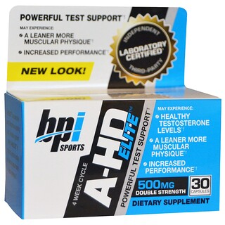 BPI Sports, A-HD Elite, 500 mg, 30 Capsules