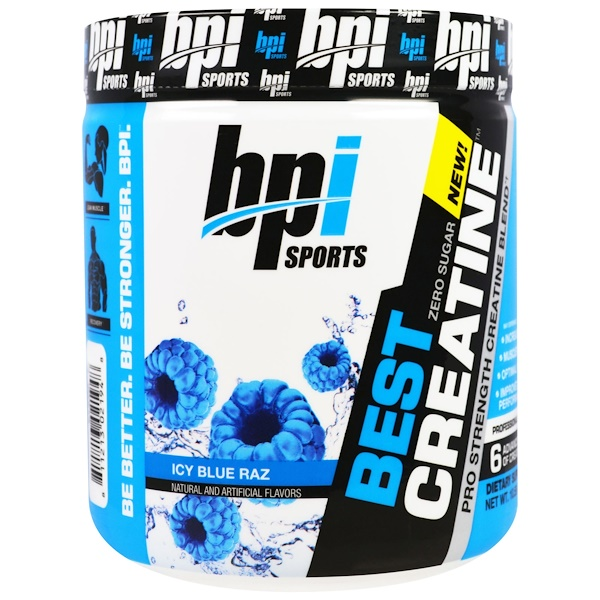 BPI Sports, Best Creatine, Icy Blue Raz, 10.58 oz (300 g)