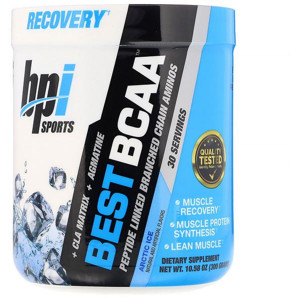 BPI Sports, Best BCAA,肽連接的支鏈氨基酸,北極冰,10.58盎司(300克) (Discontinued Item)