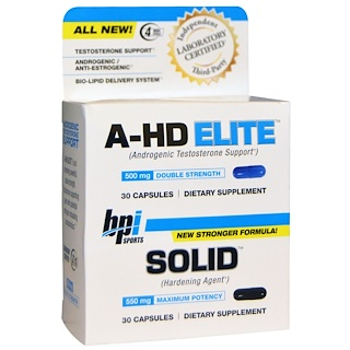 BPI Sports, A-HD Elite, Solid, 30 Capsules