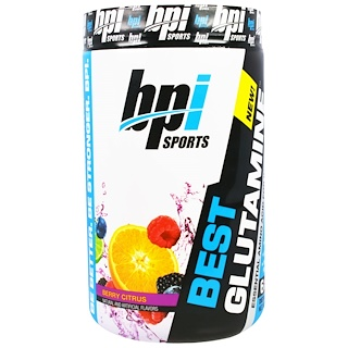 BPI Sports, Best Glutamine, Berry Citrus, 14.1 oz (400 g)