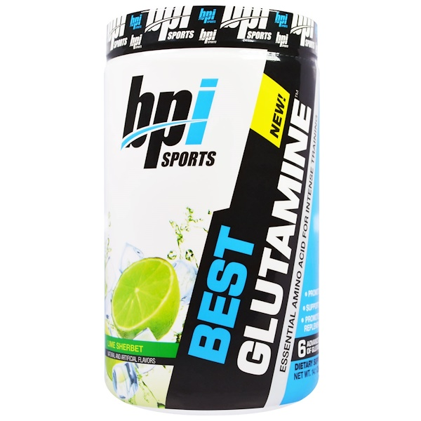 BPI Sports, Best Glutamine. Essential Amino Acid, Lime Sherbet, 14.1 oz (400 g) (Discontinued Item)