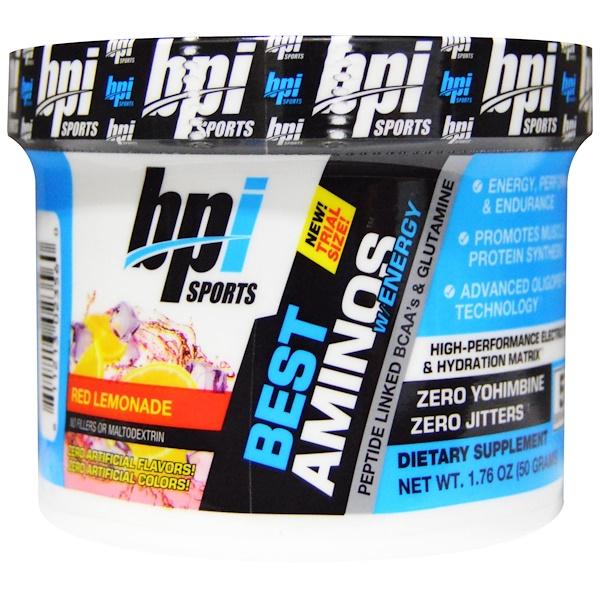 BPI Sports, Best Aminos, Single Serving Trial, Red Lemonade, 1.76 oz (50 g) (Discontinued Item)