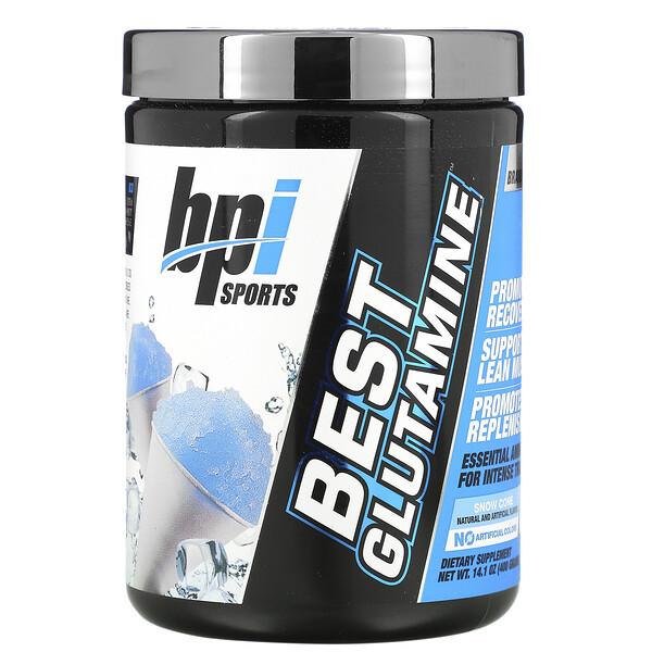Best Glutamine, Snow Cone, 14.1 oz (400 g)