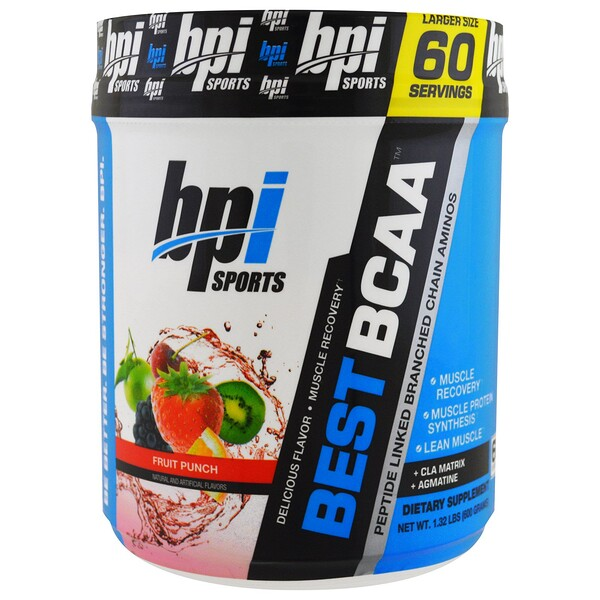 Best BCAA. Fruit Punch, 1.32 lbs (600 g)