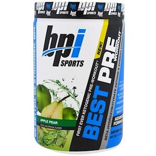 BPI Sports, Best Pre Workout, Beta-Hydroxybutyrate Ketone & Energy Formula, Apple Pear, 11.11 oz (315 g)
