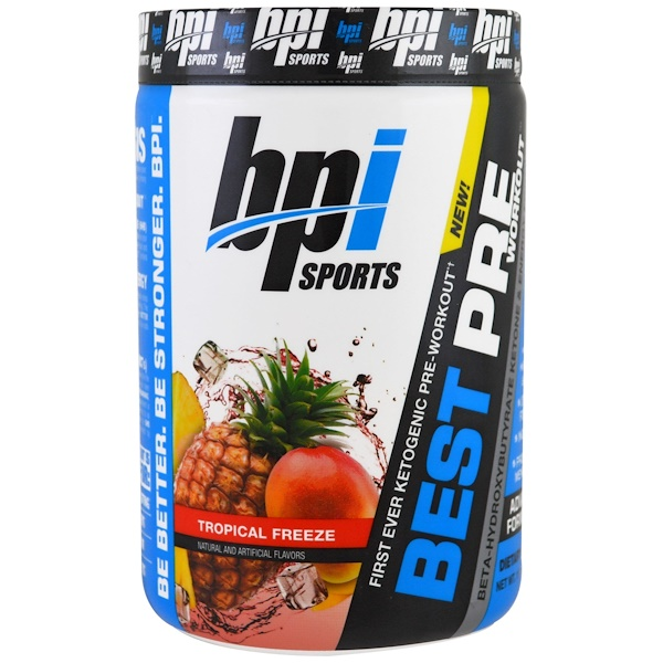 Best Pre Workout, Beta-Hydroxybutyrate Ketone & Energy Formula, Tropical Freeze, 11.11 oz (315 g)
