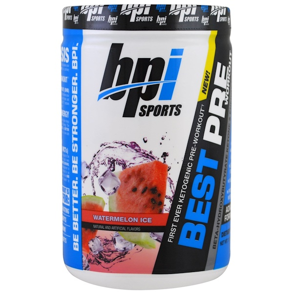 BPI Sports, Best Pre Workout, Beta-Hydroxybutyrate Ketone & Energy Formula, Watermelon Ice, 11.11 oz (315 g) (Discontinued Item)