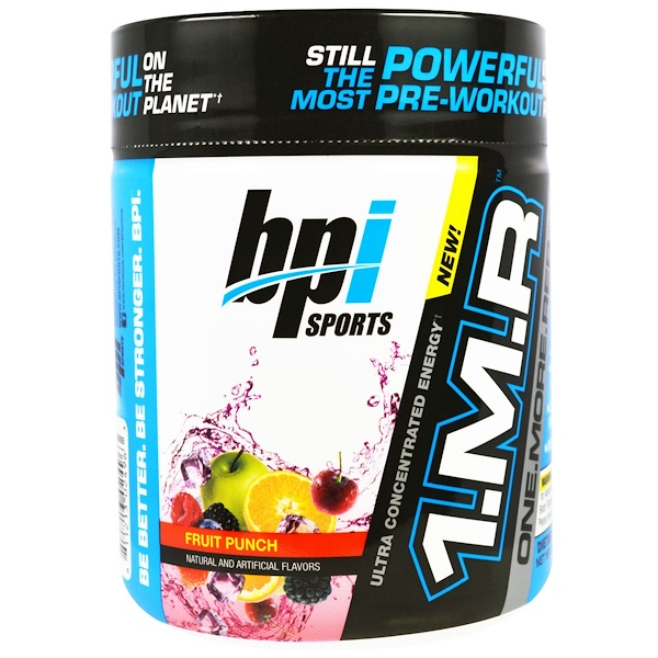 BPI Sports, 1.M.R., One. More. Rep, Pre-Workout Powder, Fruit Punch, 8.5 oz (240 g) (Discontinued Item)