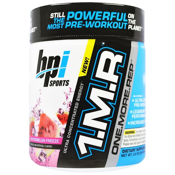 BPI Sports, 1.M.R., One.More.Rep, Pre-Workout, Watermelon Freeze, 8.5 oz (240 g) (Discontinued Item)
