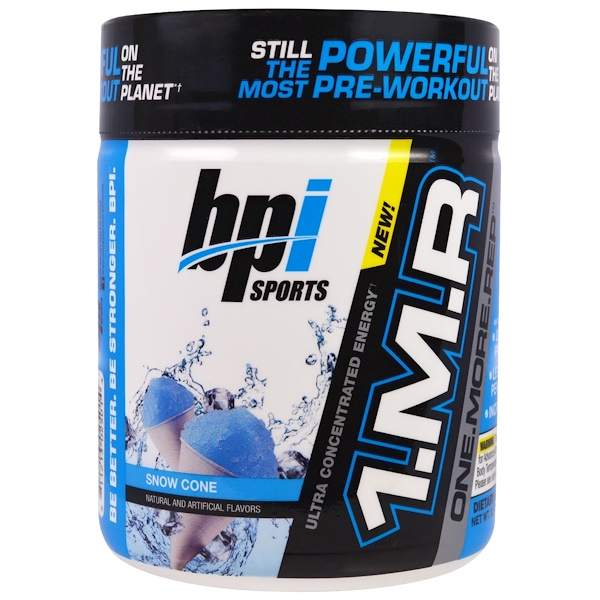 BPI Sports, 1.M.R, One.More.Rep, Snow Cone, 8.5 oz (240 g) (Discontinued Item)