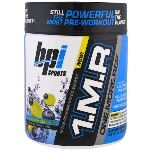 BPI Sports, 1.M.R, Еще. Один. Повтор, Порошок для приема перед тренировкой, черничный лимонад, 8,5 унц. (240 г) (Discontinued Item)