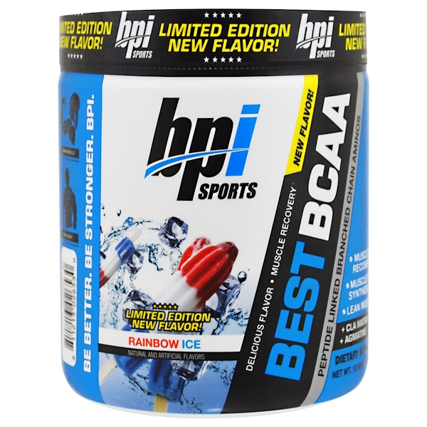 BPI Sports, Best BCAA, Limited Edition, Rainbow Ice, 10.58 oz (300 g) (Discontinued Item)