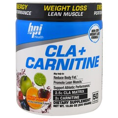 BPI Sports, CLA + Carnitine, Fruit Punch, 10.58 oz (300 g)
