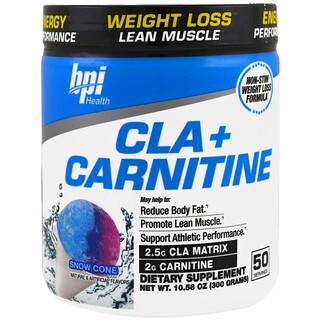 BPI Sports, CLA + カルニチン、スノーコーン、10.58オンス (300 g)