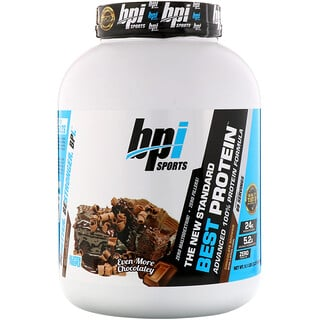 BPI Sports, ベストプロテイン、アドバンス100%プロテインフォーミュラ、チョコレートブラウニー、5.1 lbs (2,329 g)