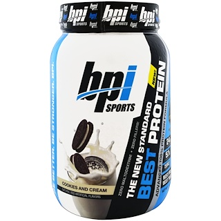 BPI Sports, Best Protein, Advanced 100% Protein Formula, Cookies and Cream, 2.1 lbs (952 g)