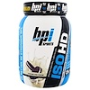 BPI Sports, ISO HD, 100% Whey Protein Isolate & Hydrolysate, Cookies and Cream, 1.8 lbs (805 g)