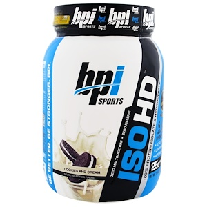 БПА Спортс, ISO HD, 100% Whey Protein Isolate & Hydrolysate, Cookies and Cream, 1.8 lbs (805 g) отзывы