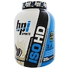BPI Sports, ISO HD, 100% Whey Protein Isolate & Hydrolysate, Cookies and Cream, 5.3 lbs (2398 g)