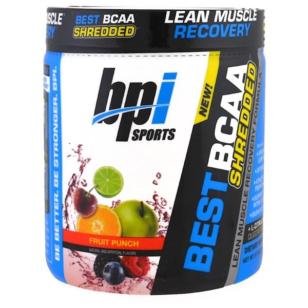 BPI Sports, Best BCAA Shredded,瘦肌肉恢復配方,水果賓治,9、7盎司(275克)