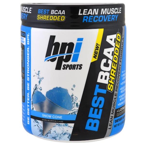 BPI Sports, Лучшие аминокислоты с разветвленной цепью, состав для восстановления сухой мускулатуры, мороженое, 9.7 унций (275 г) (Discontinued Item)