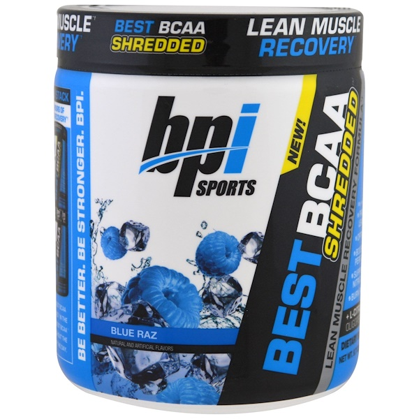 BPI Sports, Best BCAA Shredded, Lean Muscle Recovery Formula, Blue Raz, 9.7 oz (275 g)