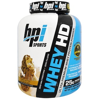 BPI Sports, ウルトラプレミアム・ホエープロテインパウダー、ピーナッツバターアイスクリームバー、4.2 lbs (1,900 g)