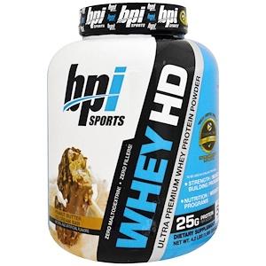 БПА Спортс, Ultra Premium Whey Protein Powder, Peanut Butter Ice Cream Bar, 4.2 lbs (1,900 g) отзывы покупателей