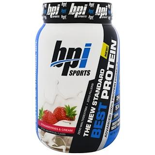BPI Sports, Best Protein Advanced 100% Protein Formula, Strawberries & Cream , 2.0 lbs (924 g)