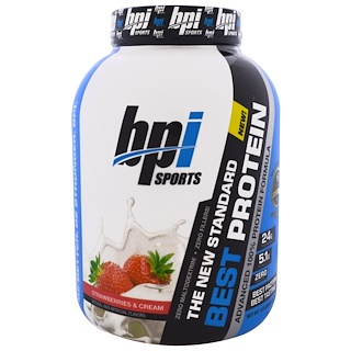BPI Sports, ベストプロテイン, 純度100%アドバンス・プロテイン・フォーミュラ, ストロベリー & クリーム, 5.2 lbs (2,376 g)