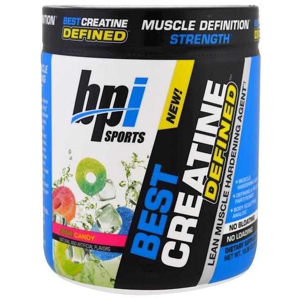 BPI Sports, Лучший креатин, сформированный, агент для укрепления сухой мышечной массы, горькое печенье, 10,58 унц. (300 г) (Discontinued Item)