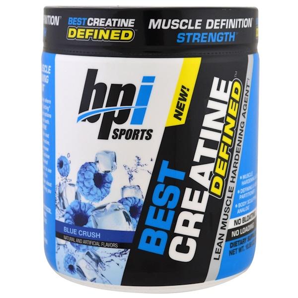 BPI Sports, Лучший креатин, сформированный, агент для укрепления сухой мышечной массы, любовь к синему, 10,58 унц. (300 г) (Discontinued Item)