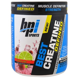 BPI Sports, Best Creatine Defined, Lean Muscle Hardening Agent, Cherry Lime, 10.58 oz (300 g)