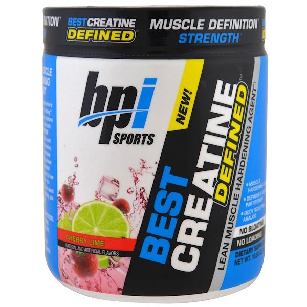BPI Sports, Лучший креатин, усиленный компонент для укрепления сухой мускулатуры, вишня-лайм, 10.58 унций (300 г) (Discontinued Item)