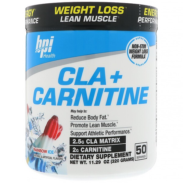 BPI Sports, CLA + Carnitine, Rainbow Ice, 11.29 oz (320 g)