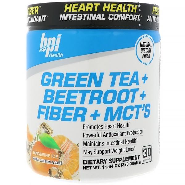 BPI Sports, Green Tea + Beetroot + Fiber + MCT's, Tangerine Ice, 11.64 oz (330 g) (Discontinued Item)