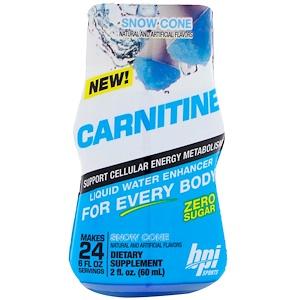БПА Спортс, Carnitine, Liquid Water Enhancer, Snow Cone, 2 fl oz (60 ml) отзывы