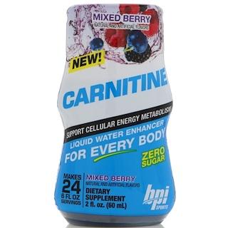 BPI Sports, 카르니틴, 리퀴드 워터 인헨서, 믹스 베리, 2 fl oz (60 ml)