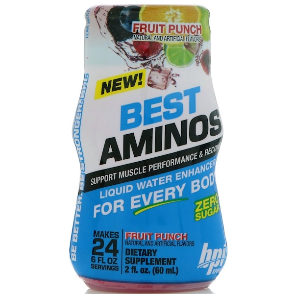 BPI Sports, Best Aminos, Liquid Water Enhancer, Fruit Punch, 2 fl oz (60 ml)
