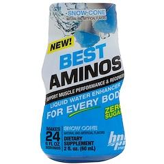 BPI Sports, Best Aminos, Liquid Water Enhancer, Snow Cone, 2 fl oz (60 ml)