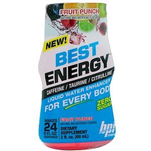 БПА Спортс, Best Energy, Liquid Water Enhancer, Fruit Punch, 2 fl oz (60 ml) отзывы