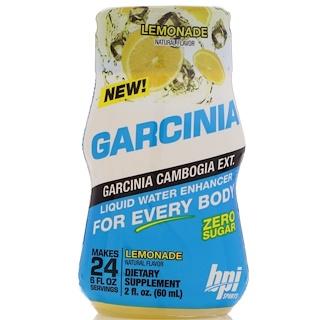 BPI Sports, 가르시니아 액체 물 강화제, 레모네이드, 2 fl oz (60 ml)