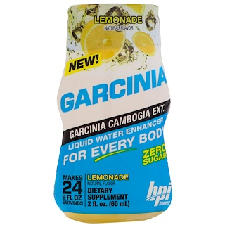 BPI Sports, Garcinia Liquid Water Enhancer, Lemonade, 2 fl oz (60 ml)