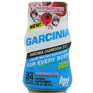 BPI Sports, 가르시니아 리퀴드 워터 인헨서, 라즈베리 아이스, 2 fl oz (60 ml)