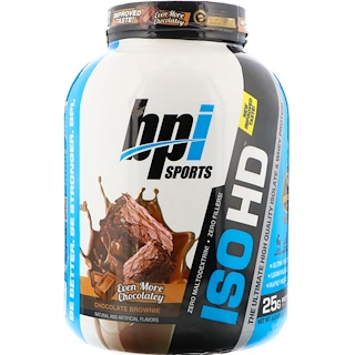 BPI Sports, ISO HD, Isolate & Whey Protein, Chocolate Brownie, 5.4 lbs (2,466 g)