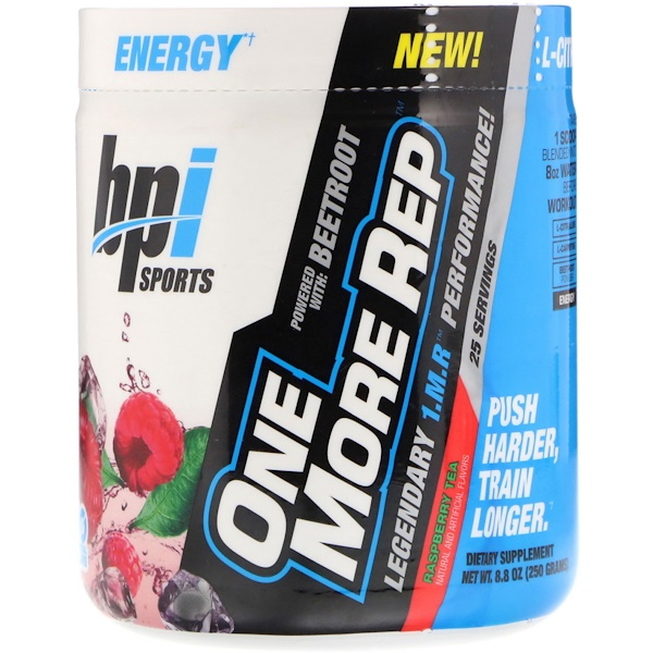 BPI Sports, One More Rep, Raspberry Tea, 8、8 oz (250 g)