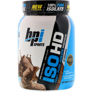 BPI Sports, ISO HD, 100% Pure Isolate Protein, Chocolate Brownie, 1.6 lbs (736 g)