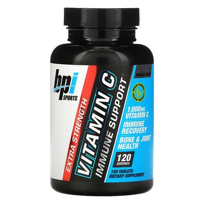 Купить BPI Sports Vitamin C, Extra Strength, 1, 000 mg, 120 Tablets